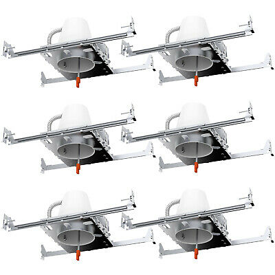 """Sunco 6 PACK 4"""" inch """"New Construction"""" LED CAN Air Tight IC Housing Recessed"""