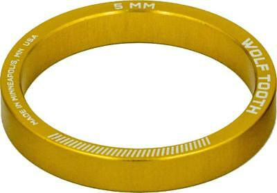 Wolf Tooth Components Headset Spacer 5 Pack, 5mm, Gold