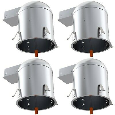 """Sunco 4 PACK 6"""" inch Remodel LED Can Air Tight IC Housing LED Recessed Lighting"""
