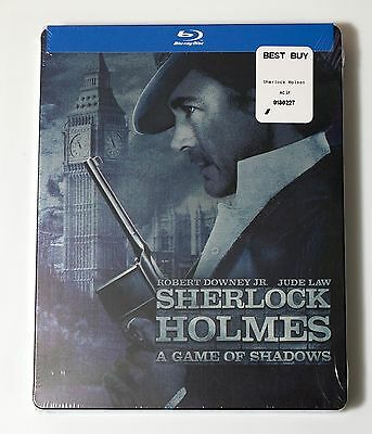 Sherlock Holmes Game of Shadows Limited Edition STEELBOOK BLURAY DVD USA NEW