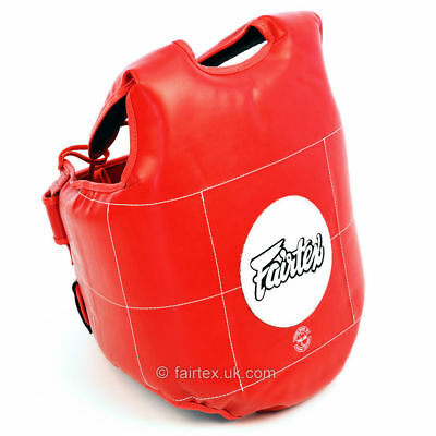 Fairtex Red Body Protective Shield Vest Chest Protection