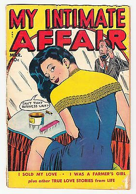My Intimate Affair #1 Scarce Fox 1.5 Classic Cover 1950