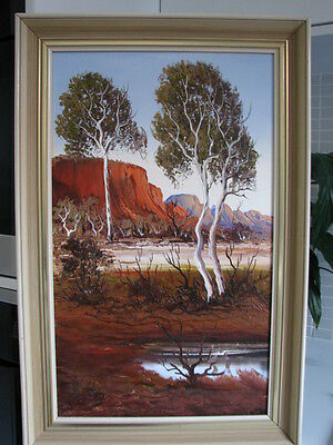"""Original Oil Painting by Henk Guth (1921-2002) -  """"The MacDonnell Ranges"""""""