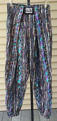 Vintage 80s 90s Athletic Works colorful gym workout Muscle Pants Baggy Large
