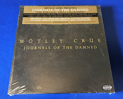 T RARE SEALED 2008 Journals of the Damned Motley Crue 6X LP BOX SET record vinyl