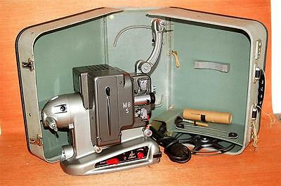 Vintage BOLEX PAILLARD M8 8mm Portable MOVIE PROJECTOR with Case Free S&H US/48