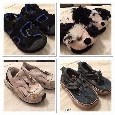 4 Pairs Boys Shoes Size 8-10 Lot  Sandals Runners