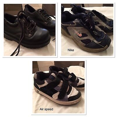3 Pairs Boys Shoes Size 12 Lot Runners