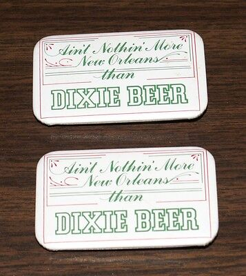 Lot Of 2 Vintage Dixie Beer Metal Pins New Orleans - Free Shipping