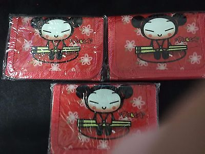 Pucca Japanese Anime slim Wallet trifold w/zipper NEW (two diferents) + FREE SHI