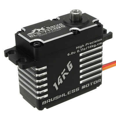 [NEW] JX BLS-7114MG 14KG High Precision Steel Gear Digital Brushless Servo For R