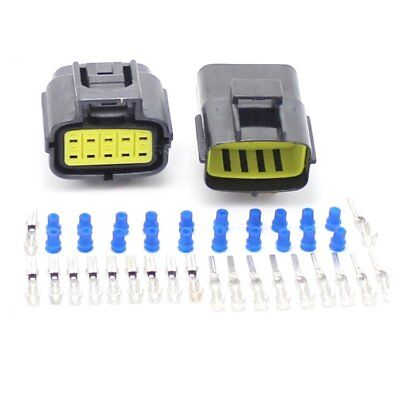 Car Motorcycle Waterproof 10 Pin Electrical 1.8mm AWG Wire Connector Plug