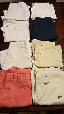 Vineyard Vines Size 12 Boys Khaki Shorts 8 Pair Variety (GREAT SCHOOL UNIFORM!!)