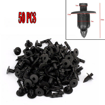 50X Useful 7mm Hole Fender Bumper Push Rivets Retainers Clips For Toyota Lexus
