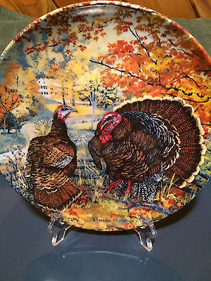 Bradex Collector Plate - The Wild Turkey 1987 -Painted by Wayne Anderson