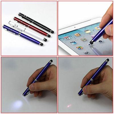 4 In 1 Strong Red Laser Pointer Led Torch Pda Stylus Pen Black Ball Pen