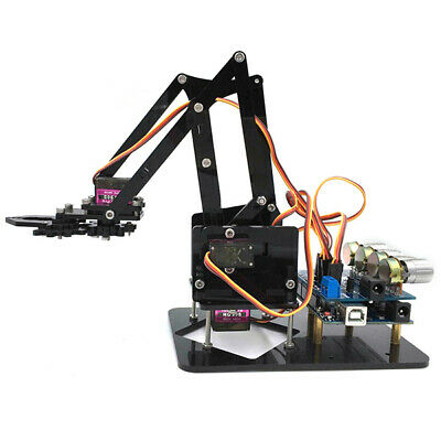 [NEW] DIY 4DOF Robot Arm 4 Axis Mechanical Rotating Robot Arm With Arduino UNO R