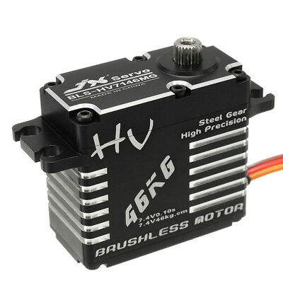 [NEW] JX BLS-12V7146 46KG 12V 180 Degrees HV Steel Gear Brushless Digital Servo