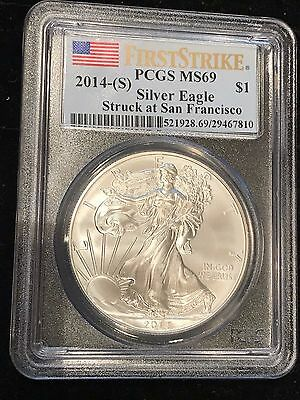 2014-S American Silver Eagle  PCGS MS69 - First Strike - Struck at San Francisco