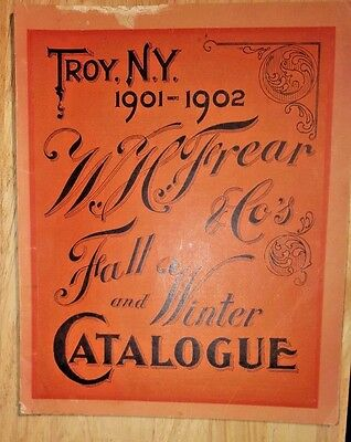 Rare 1901-1902 Troy NY WH Frear & Co STORE CATALOG Clothing Corsets Dry Goods