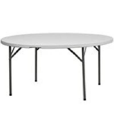 5Ft Round Banquet Catering Folding Table