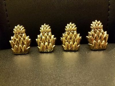 VINTAGE ANTIQUE BRASS DRAWER PULL KNOB set of four