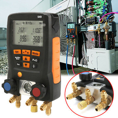 Plastic Car Refrigeration 549 Digital Manifold HVAC Gauge System Meter 0560 0550