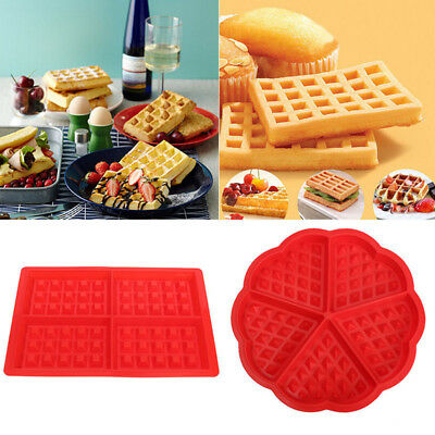 Silicone Waffles Muffins Mold Cake Chocolate Pan Bakeware Kitchen Baking Tool