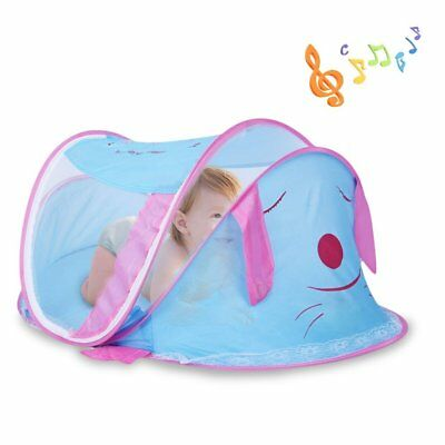 Portable Baby Travel Bed with Music Mosquito Net Foldable Infant Tent Baby Bag