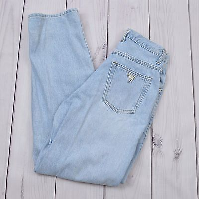 GUESS Jeans Vintage 90s Moms Blue Pants Women Size 29 Made in Canada