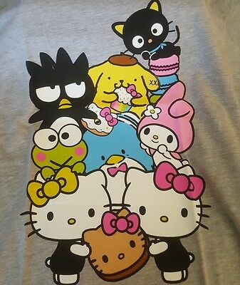 Women's Size XXL Hello Kitty Cafe PopUp Store Gray T-Shirt with bonus! Rare 2xl