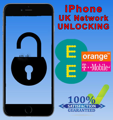 iPhone 5 5C SE & 5S Factory Unlocking Service For UK EE Orange Tmobile - 24Hrs