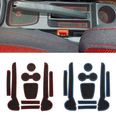 9 Pcs/Set Door Slot Cup Holder Non-Slip Pad Anti Dust Mat for VW Volkswagen Polo