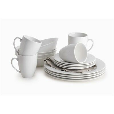 New Maxwell & Williams White Basics Providence 16 Piece Dinner Set