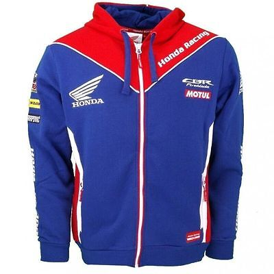 Honda HRC Moto GP CBR MOTUL Racing Zip Hoodie Jacket Men F1 Motorcycling Coat