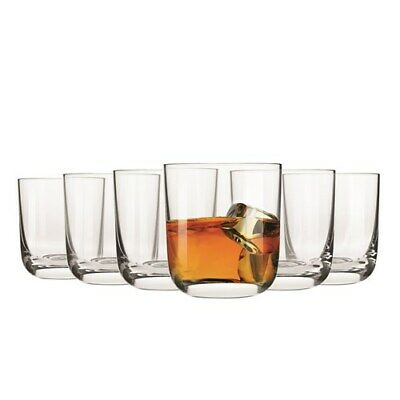 New Krosno Pola Whiskey Glass 300ml Set of 6 Gift Boxed