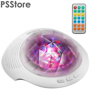 SOAIY Sleep Sound Machine & Night Light Projector with Bluetooth Speaker,...