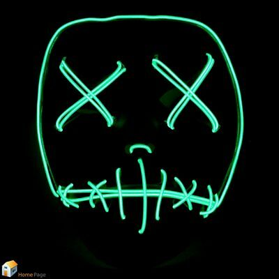 Le Masque du Festival Fil EL DJ Party Purge Film Halloween Costume Neon Green