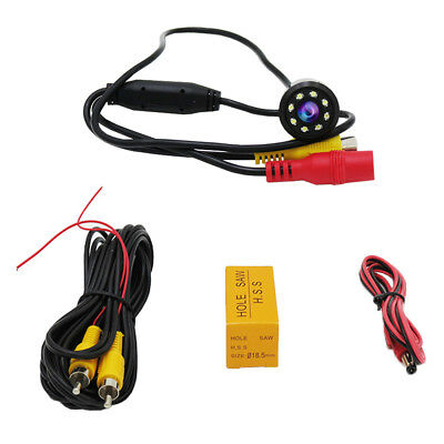 8 LED HD Night Vision Car Backup Rear View Reverse Parking Infrared Camera cy06