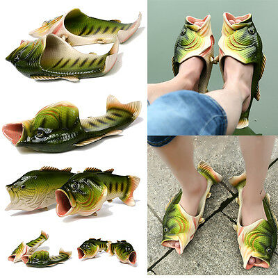 Sandals Tricky Simulation Fish Slippers Creative Style Beach Shoes Women Men Kid
