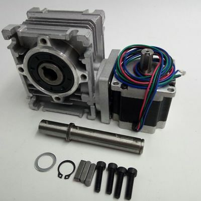 NEMA23 Ratio 30:1 NMRV030 Gearbox L56mm Worm Gear Stepper Motor Speed Reducer