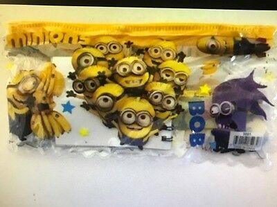 7In1 Kids Pencil Case Stationary Boys Girls - Minions - Aussie Seller