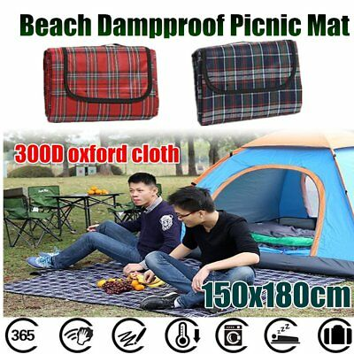 150x180CM Foldable Beach Dampproof Picnic Mat For Outdoor Camping Traveling ht