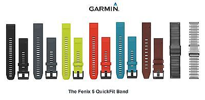 Garmin Fenix 5 QuickFit Watch Band 22mm Replacement Adjustable Strap Silicone