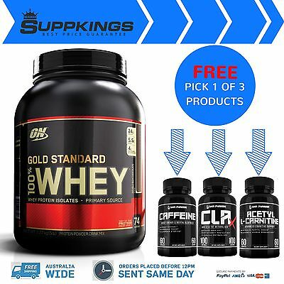 Optimum Nutrition Gold Standard 100% Whey Protein - 5lb - WPI-WPC Plus FREE GIFT