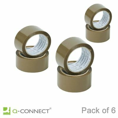 Q-Connect Polypropylene Packaging Tape 50mm x 66m Brown [KF27010]