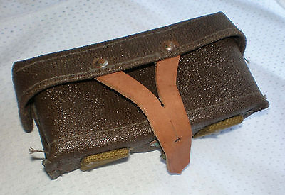 Ussr Soviet Russian Mosin Nagant 100% original Leather kirza ammo pouch NEW