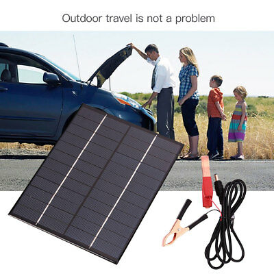 Car Auto Waterproof Polycrystalline 5.5W 12V Solar Panel Battery Charger