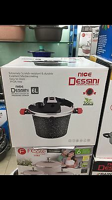 Dessini 6L Italian Marble Coated Pressure Cooker 2017 Edition