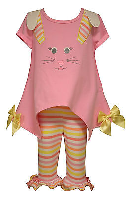 Bonnie Jean Little Girls Pink Easter Bunny Pageant Dress BOW Outfit Set 4 5 6 6X
